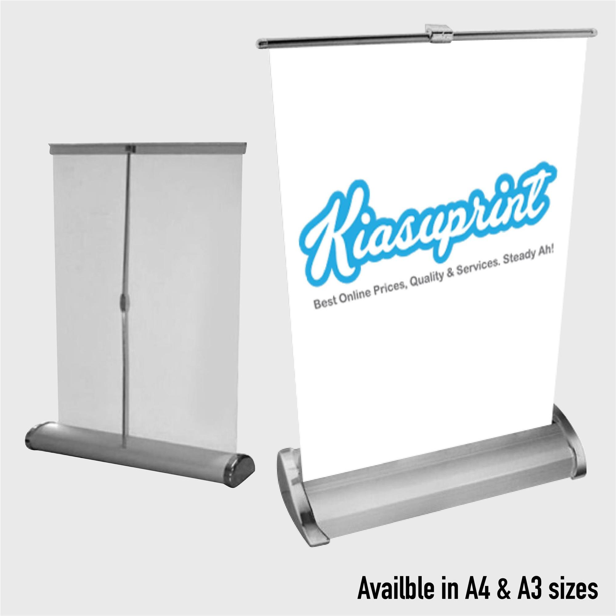 A4 / A3 Mini Roll Up/ Pull Up Banner