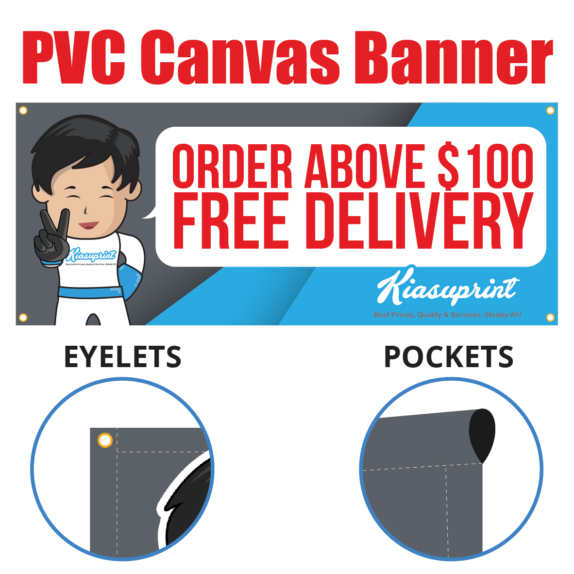 Cheap Outdoor UV Ink PVC Canvas Banner Printing