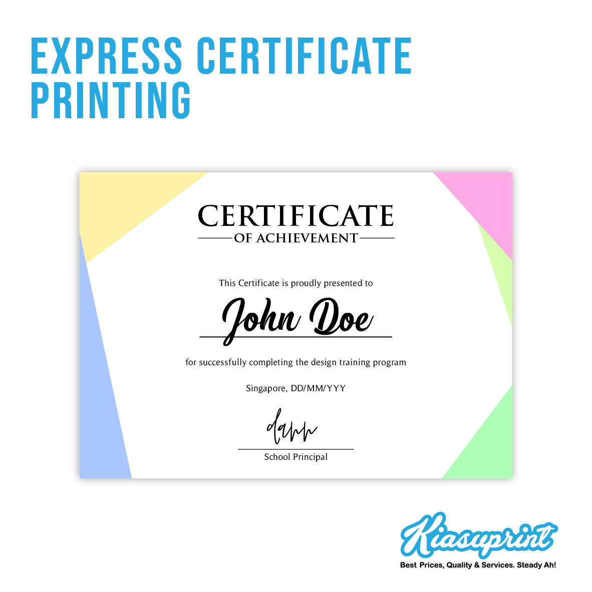Certificate Printing In Singapore