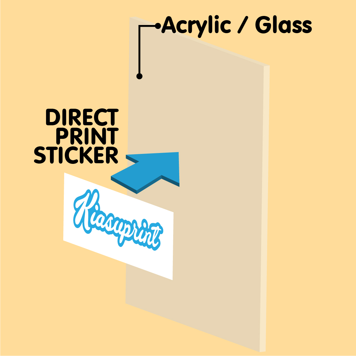 *Large Format* Direct Print UV Stickers (Outdoor/Indoor) (No Installation)