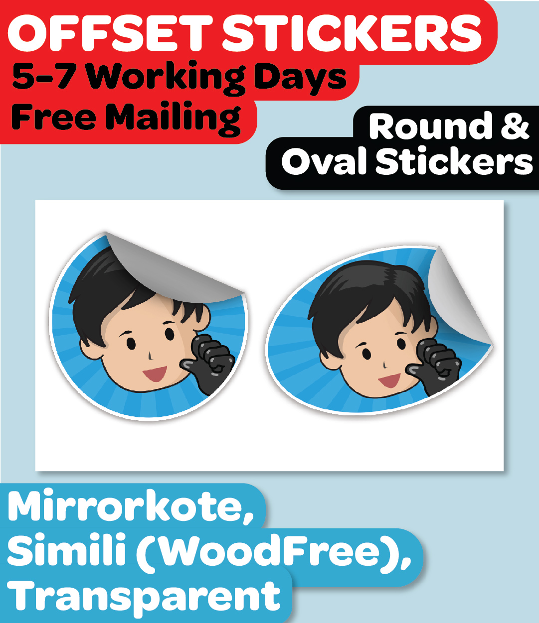 *Small* Round and Oval Stickers / Labels
